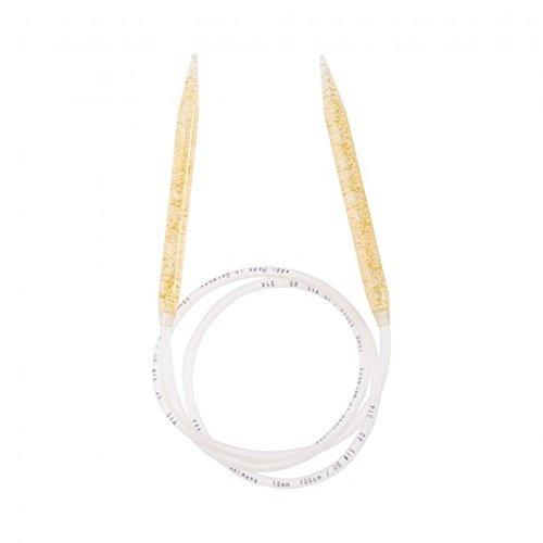 addi Aiguilles à tricoter circulaires + paillettes 10 mm 100 cm