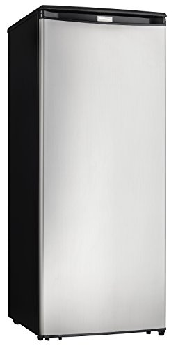 Danby DUFM085A4BSLDD Designer Storage Upright Stand Alone Reversible Deep Freezer Cooler, 8.5 cubic feet