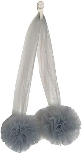 Bed-overkapping Hang mesh garenbal tent muggen ronde decoratie hangende wandversieringen Props 11x60cm grijs