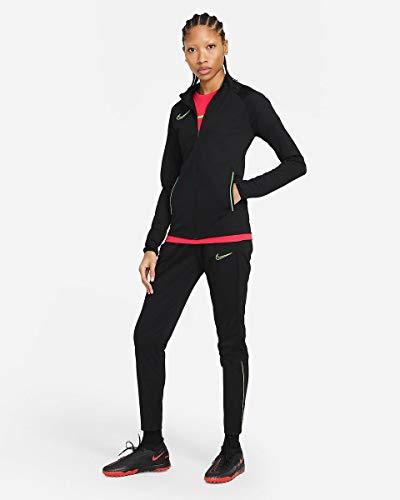 Nike Dri-Fit Academy, Tuta Sportiva Donna, Nero/Bianco/Bianco, M