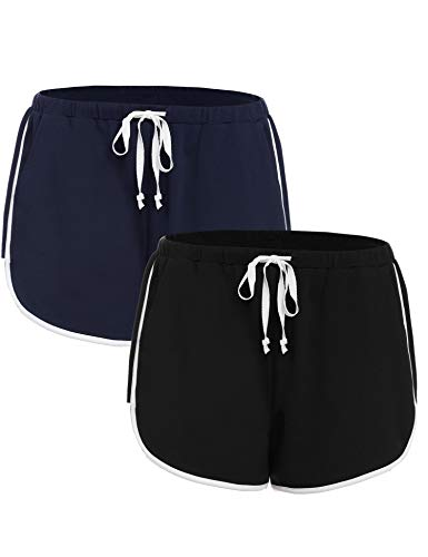 iClosam Especiales de Verano Pantalones Mujer Deportes Yoga Casual Gimnasio Ejercicio Playa Aire Libre Ocasionales,Pantalón Algodón Cortos Cómodo S-XXL