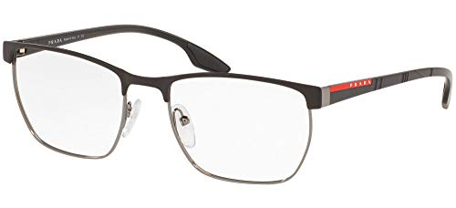 Prada Sport PS50LV - Gafas de sol para hombre, 55 mm, color negro mate