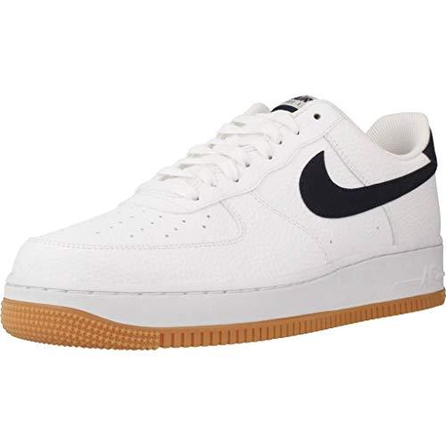 Nike Herren Air Force 1 Basketballschuhe, Weiß (White/Obsidian/University Red 100), 52.5 EU