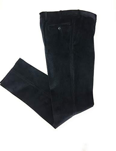 Pantalone Velluto, Duca Visconti di Modrone Elasticizzato (Blu, 50)
