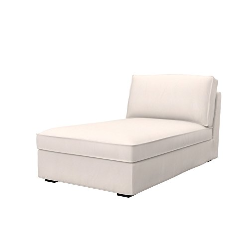 Soferia Bezug fur IKEA KIVIK Recamiere, Stoff Eco Leather Creme