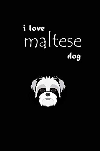 Maltese notebook: Composition Lined Notebook/ Journal Gift,100Pages Height Quality, 6x9, Soft Cover, Matte Finish (Dog Breed Composition Books)