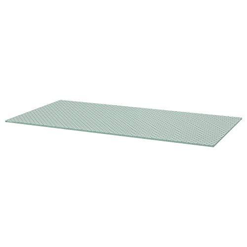 Tablero de mesa GLASHOLM 73x148 cm vidrio/panal estampado