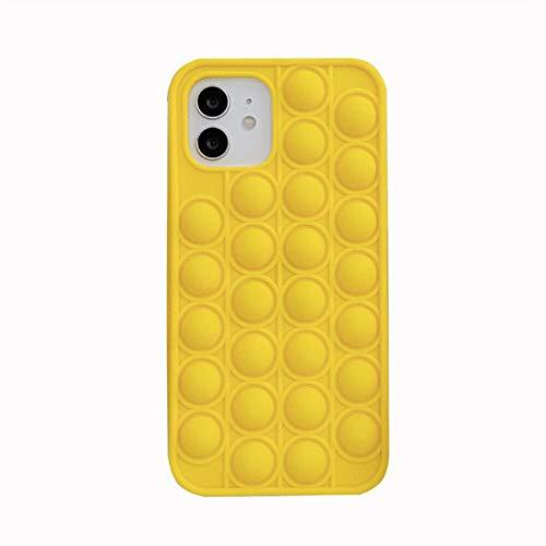 Fidget Toy Phone Case, Pop Fidget Phone Case, 3D Soft Silicone Rainbow Case for iPhone7P/8P/ X/ XS/ XR/ Xsmax/ 11/ 11pro/ Promax/ 12mini/ 12/ 12pro/ 12Promax, Shockproof Cover