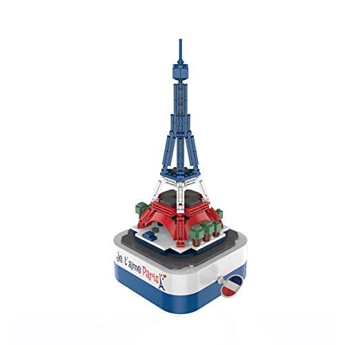 NDYD Kits de bloques de construcción para niños – Caja de música modelo DIY para aprendizaje educativo de ciencias de aprendizaje para niños de 14 años y niñas DSB (color : torre de hierro)