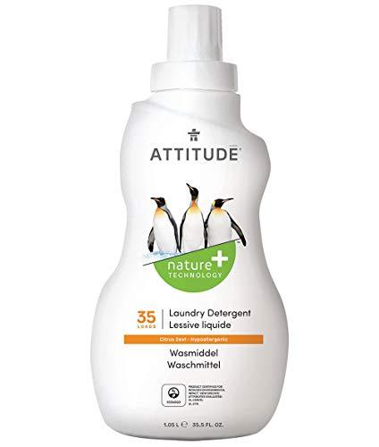 ATTITUDE Flüssigwaschmittel für 35 Maschinen, Zitrusfrucht, 1er Pack (1 x 1.05 l)
