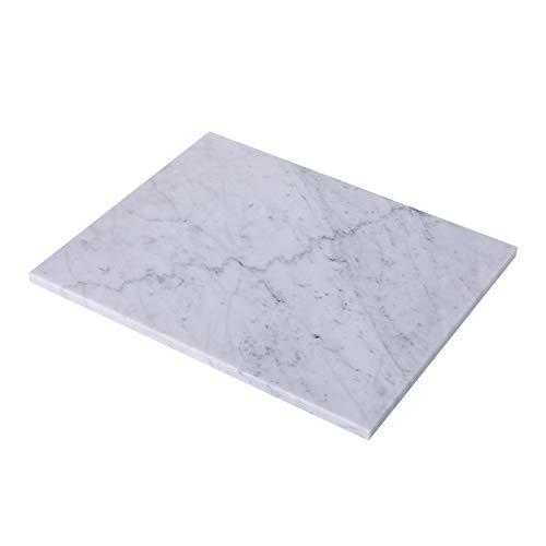 JESSILIN HOME Marble Cutting Board, 12x16 inch Marble Pastry Board for Kitchen, Smooth Cheese Cutting Board for Rolling Dough, Cakes, Fruits and Vegetables