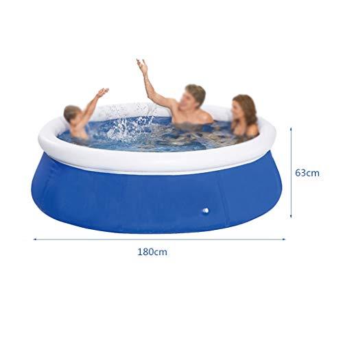 Geeignet for 3-6 Personen aufblasbaren Swimmingpool, Familie zeigt Privat aufblasbare Kinderbecken im Freien aufblasbaren Pool Lasting Sun Widerstands (Size : 180 * 63cm)