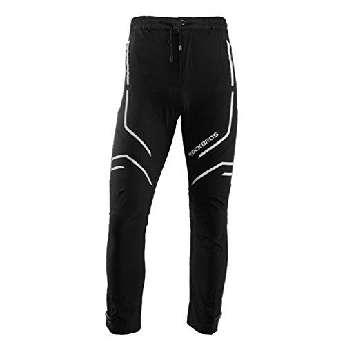 ROCKBROS Hose Fahrradhose Freizeithose Lange Radhose für Männer mit Reflektierende Elemente Hosenbänder Atmungsaktiv (003, Asia 2XL=Europe XL)