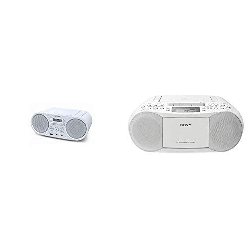 Sony ZSP-S50 CD/USB Radiorekorder (AM/FM), Weiß & CFD-S70 Boombox (CD, Kasette, Radio) weiß