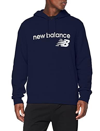New Balance Sudadera con capucha para hombre Nb Classic Core de forro polar, Camiseta, MT03910, Pigmento, XL