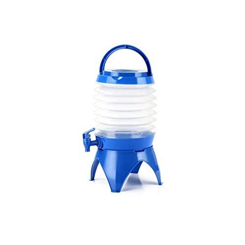 Klein Outdoor Camping Emmer Opvouwbare Water Container 5 Liter Food Grade PP Material Groen Blauw Oranje Optioneel Stevig (Color : Blue)