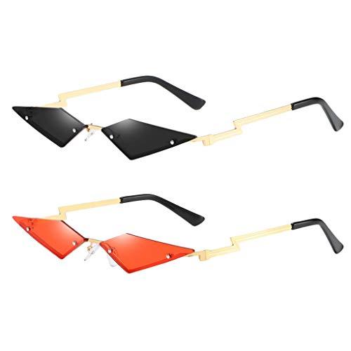 Amuzocity 2 Piezas de Gafas de Sol Sin Montura Tintadas para Mujer