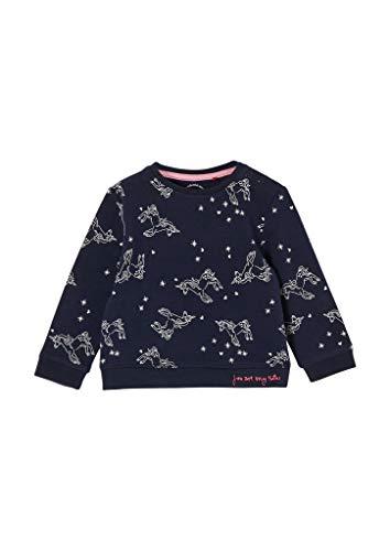 s.Oliver Unisex - Baby Sweatshirt mit Allover-Print blue 50/56