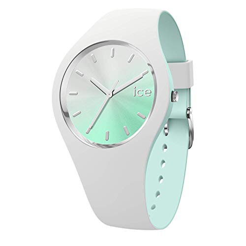 Ice-Watch - Ice Duo Chic Weiß Aqua - Damen wristwatch mit Silikonarmband - 016984 (Medium)
