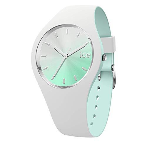 Ice-Watch - ICE duo chic White aqua - Reloj bianco para Mujer con Correa de silicona - 016984 (Medium)