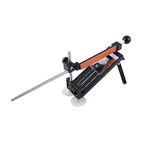 Kit d'outils d'affûtage de couteau, 4 aiguiseurs à angle fixe en carbure de silicium pour une utilisation professionnelle dans la cuisine emballé dans un sac de transport