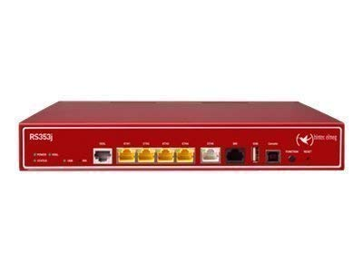 BinTec RS353j - Router - ISDN/DSL - 5-Port-Switch - ATM, GigE - an Rack montierbar Router RS353J / IP Access Router, Tischgerät mit 19' Erw., inkl. ADSL2+ Modem (VDSL optional -> #5500001623) (Annex B/J, ALL-IP,Vectoring,ISDN), 1xISD