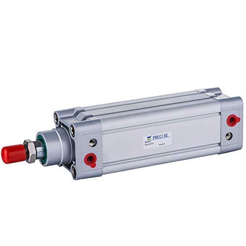 YEZIN Accesorios neumáticos Preciso DNC80X200-S 80 mm Diámetro x 200 mm Carrera 3/8'NPT ISO15552 Cilindro de Aire de Doble Efecto