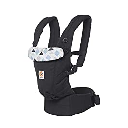 Ergobaby Baby Carrier for Newborn to Toddler up to 20kg, Triple Triangles Adapt 3-Position Ergonomic Child Carrier Backpack