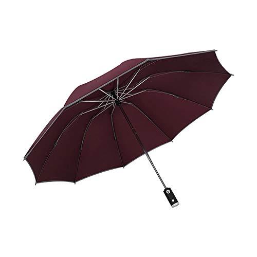 Paraguas automático plegable inverso B Paraguas con tiras reflectantes Paraguas Lluvia para hombres Mujeres Parasol masculino a prueba de viento-RD, ESPAÑA