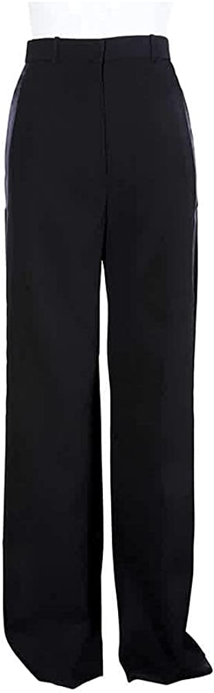 Burberry Ladies Regular Black Highwaist Wide Legged Trousers, Brand Size 2 (US Size 0)