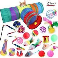 ペット猫のおもちゃセット猫チャンネル面白い猫スティックぬいぐるみ21個のさまざまな組み合わせのおもちゃ (1)