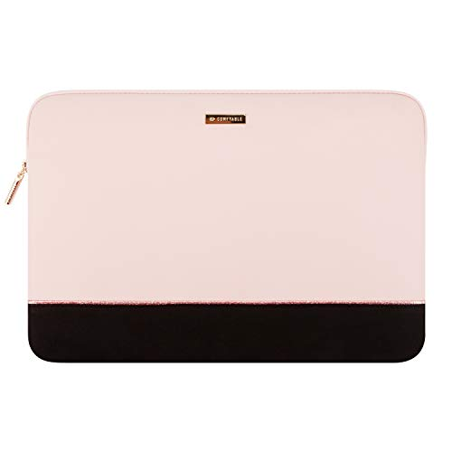 Comfyable 16 Inch Laptop Sleeve Compatible with 16 Inch MacBook Pro Sleeve 2020 & 2019, 15.6 Inch Computer Case for Women, Pink & Black