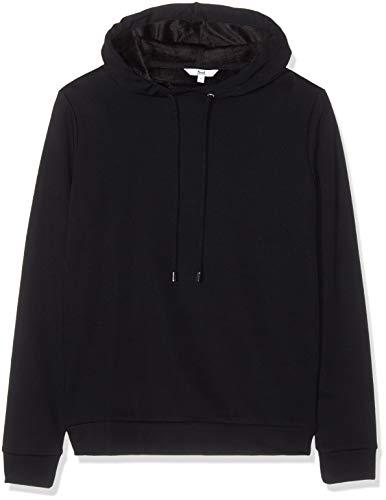 Amazon-Marke: find. Damen Kapuzenpullover Super Soft Brushed Back, Schwarz (Black), 38, Label: M