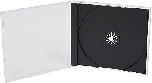 Custodie per CD,singole e standard 10mm,ripiano nero,confezione da 50