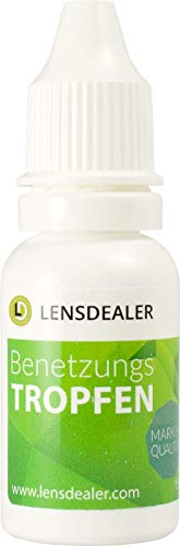 LensDealer Benetzungstropfen 15ml, für empfindliche Augen sowie für harte & weiche Kontaktlinsen geeignet