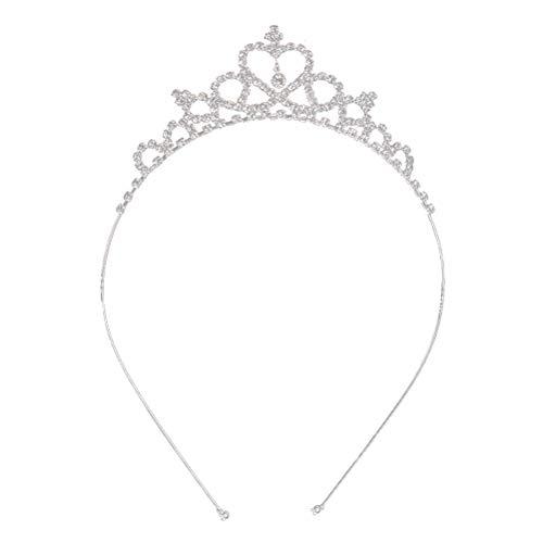 Tiara de cristal Diadema Niña Niño Nupcial Princesa Prom Crown Accesorios de fiesta Princesa Prom Crown Diadema