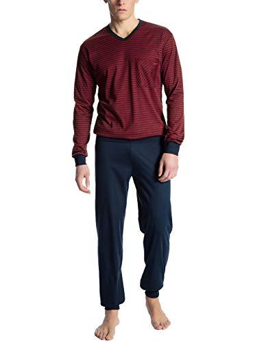 Calida Herren Relax Streamline 1 Zweiteiliger Schlafanzug, Rot (Rumba Red 159), Small (Herstellergröße: S)
