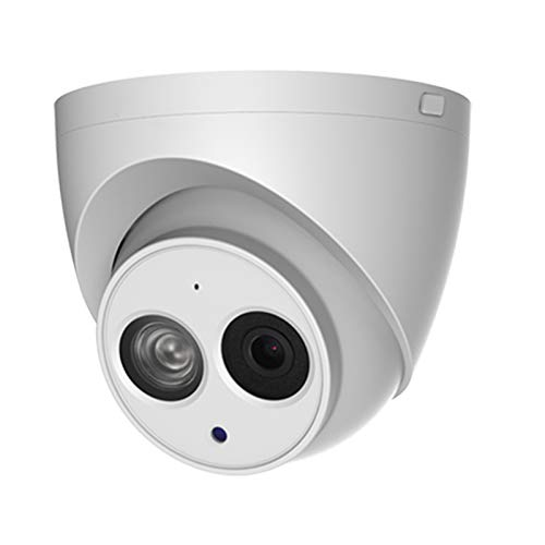 4MP POE IP Camera IPC-HDW4433C-A 2.8mm Indoor Outdoor Dome Security Camera with Audio Built-in Mic, IR Night Vision 50m, H.265, IP67, WDR, 3D DNR