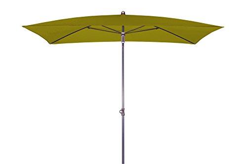 Doppler Absolut wasserdichter Gartenschirm Waterproof 230x190 ohne Volant, UV-Schutz 50 Plus, Farbe Pistazie