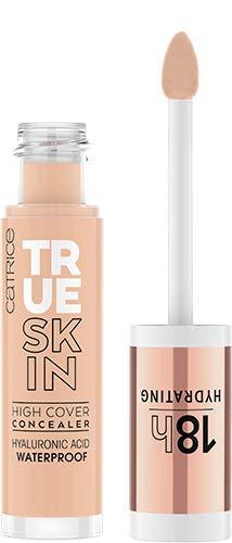Catrice True Skin High Cover Concealer, Abdeckstift, Nr. 018 Cool Rose, nude, Anti-Pickel, weichzeichnend, langanhaltend, mattierend, matt, natürlich, vegan, ölfrei, ohne Alkohol (4,5ml)