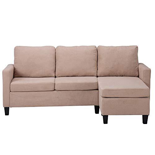 Sofá Doble Chaise Longue Combinación Beige