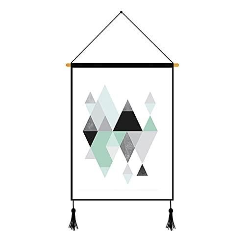 CACAIMAO Triángulo Geométrico Simple Pintura Colgante, Sala De Estar Dormitorio Decoración De La Oficina Pintura De La Pared, Pintura Decorativa con Cuerda Y Clavos 1Pcs