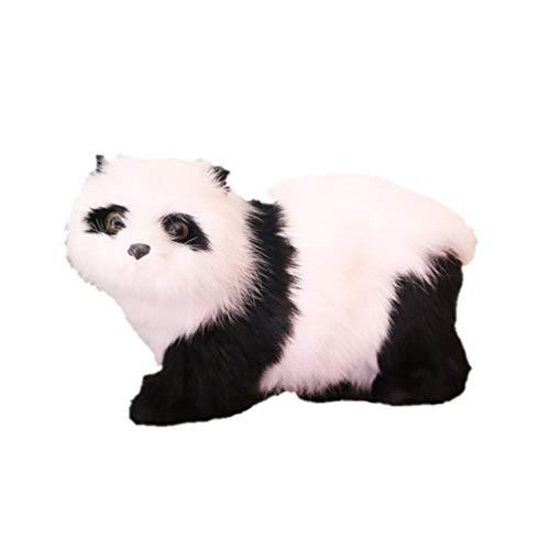 Healifty Peluche Panda Estatuilla Estatua Coche Tablero Decoración Adorno de Escritorio para La Decoración de La Mesa Del Hogar Día de San Valentín Fiesta Favor