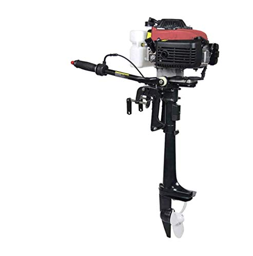 4HP 4 Stroke Outboard Motor Boat Engine - 52cc Water Sports Heavy Duty Boat Motor with Air Cooling CDI System Fishing Boat Engine