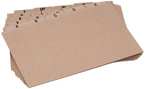 5 Star 295772 - Set de 25 carpetas con separador (A -Z, 152 x 102 mm)