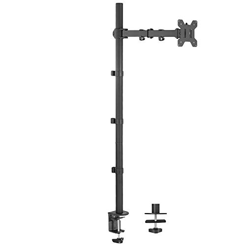 VIVO Single 13 to 27 inch LCD Monitor Desk Mount Stand, Fully Adjustable, Tilt, Articulating, Holds...