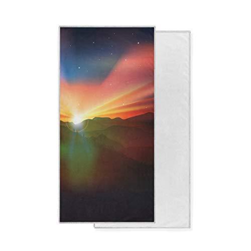 Bath Sunrise Sky Essuie-Mains Ultra Doux Gant de Toilette hautement Absorbant Gant de Toilette Polyvalent