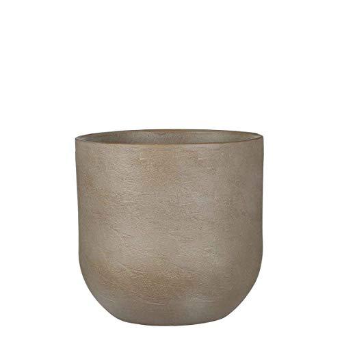 Mica Decorations Nora Pot de fleurs terre cuite rond taupe 21 x Ø 23 cm - Pot de plante