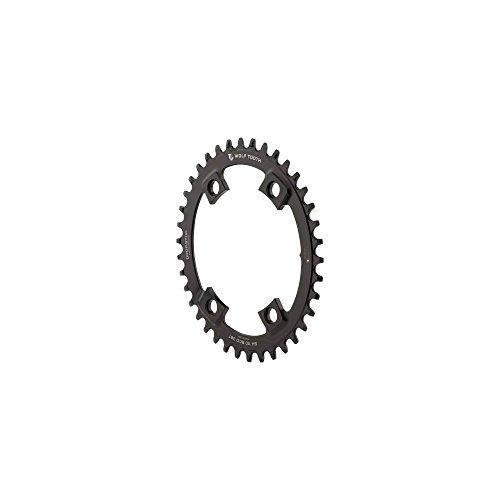 Wolf Tooth Elliptisches Kettenblatt Aysmmetrisch 4-Loch Ø110mm BCD Shimano Black Ausführung 40T 2020 Kettenblätter
