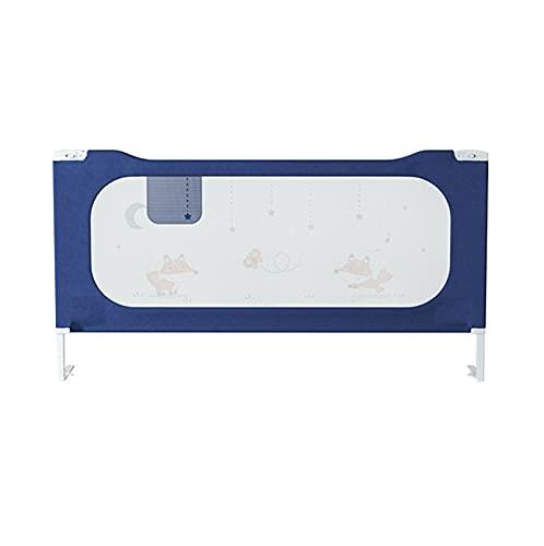 barrera cama Shuai Niño para Niños Pequeños, Riel De Seguridad De Elevación Vertical Ajustable En Altura 32 Engranajes Ajustables para Adaptarse A Su Colchón Azul(Size:200X76CM)